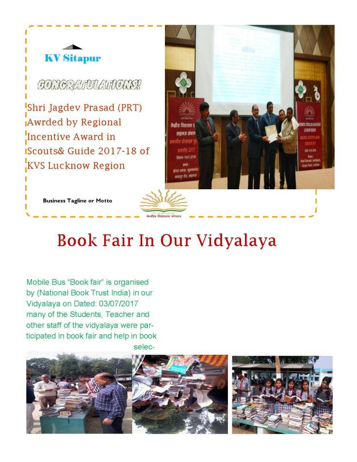 News Letter KV Sitapur JPG